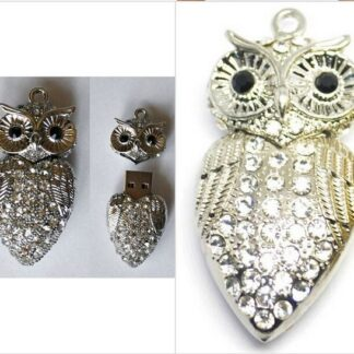 Disk on Ring Owl Silver
